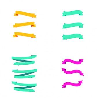 Logo de bannière de ruban abstrait
