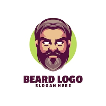 Logo barbe isolé sur blanc