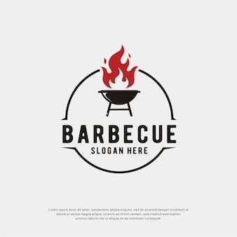 Logo de barbecue avec cercle