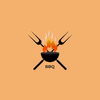 Logo barbecue avec élément de barbecue