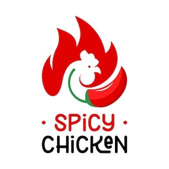 Logo de barbecue de poulet vecteur de barbecue rouge