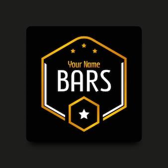 Logo de barre de couleur dégradé or blanc
