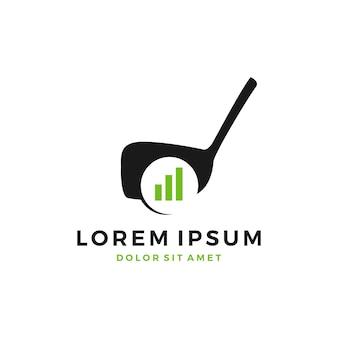 Logo de barre de diagramme de développement de formation de terrain de golf