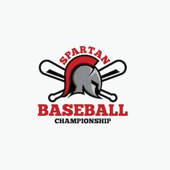 Logo de baseball spartan