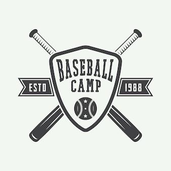Logo de baseball vintage