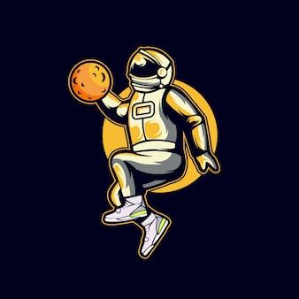 Logo de basket-ball astronot