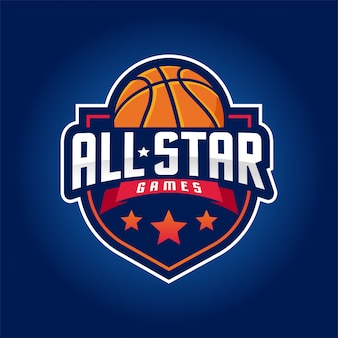 Logo de basket-ball, logo américain sport