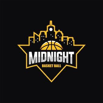 Logo de basket-ball de minuit