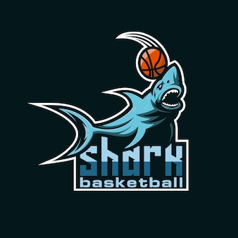 Logo de basket de requin