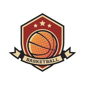 Logo de basketball vintage
