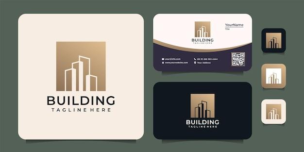 Logo de bâtiment dégradé moderne