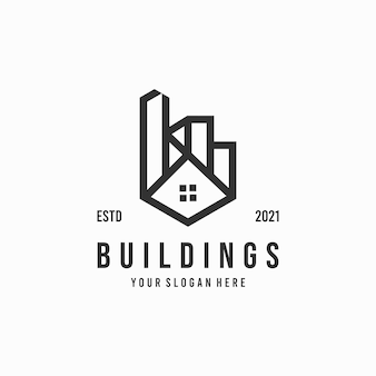 Logo de bâtiment minimaliste