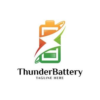 Logo de la batterie et du tonnerre
