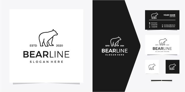 Logo bear line