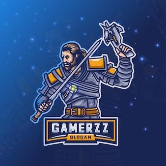 Logo beard man esport