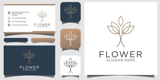 Logo de beauté de fleur abstraite symbole créatif universel. signe de vecteur de boutique bijou gracieux