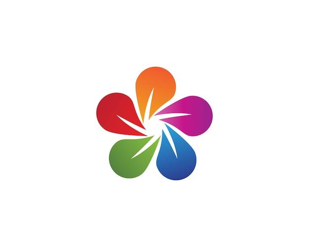 Logo de beauté fleur de plumeria