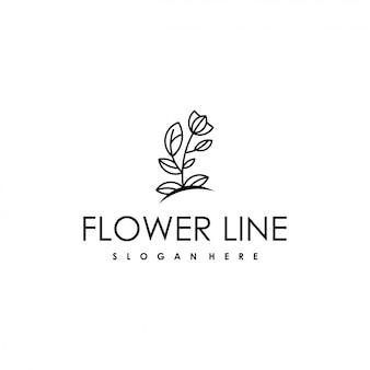 Logo de beauté avec une fleur