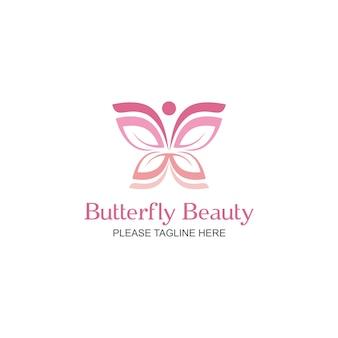 Logo de beauté de papillon