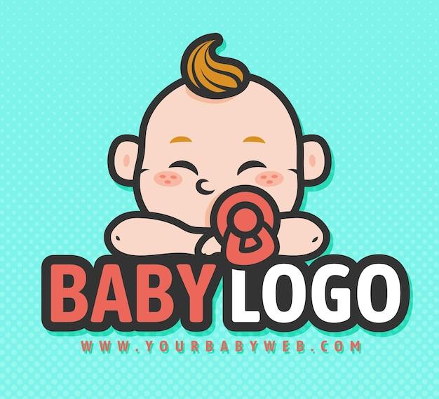 Logo Bébé Détaillé Vecteur Premium