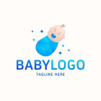 Logo bébé garçon détaillé