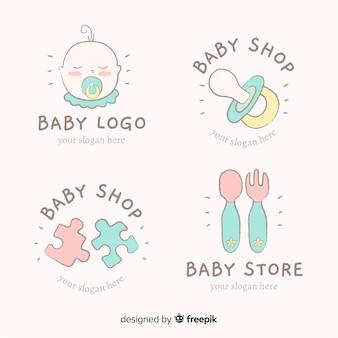 Logo bébé plat