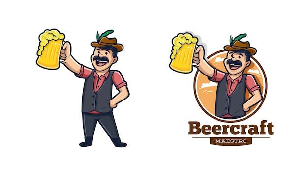 Logo de bière rétro