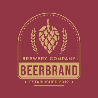 Logo de bière vintage