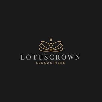 Logo de bijoux de diamant de boutique de couronne élégante simple de luxe