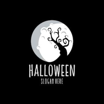 Logo blanc de halloween