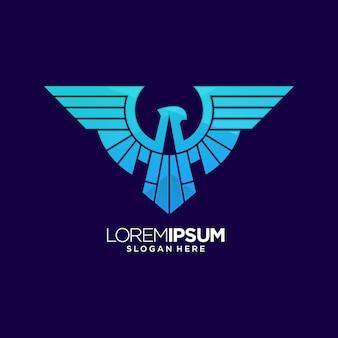 Logo bleu aigle