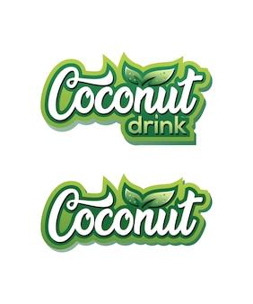 Logo de boisson à la noix de coco