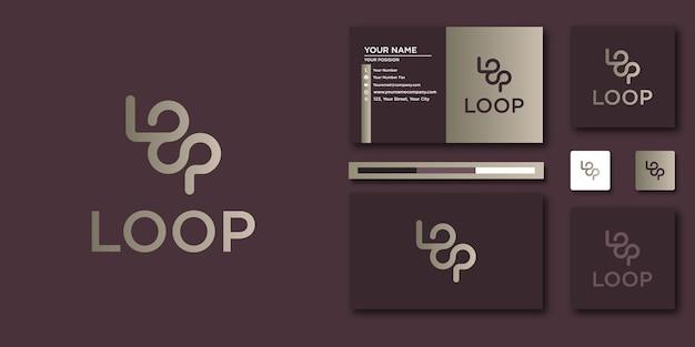 Logo de boucle de luxe. résumé de luxe pour la conception de logo et de carte de visite