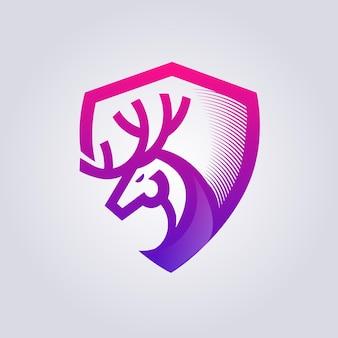 Logo de bouclier animal