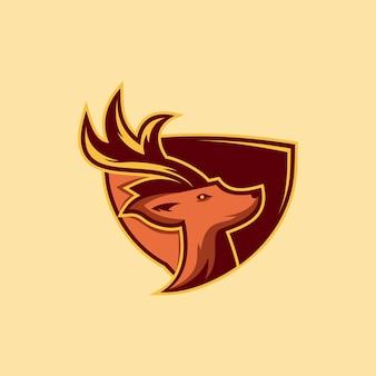 Logo de bouclier de cerf