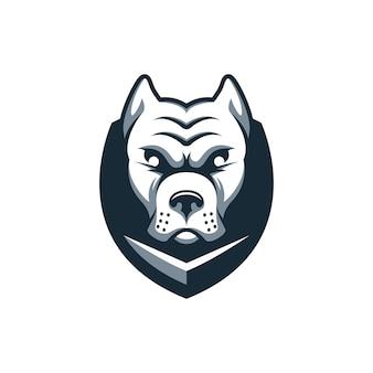 Logo de bouclier de chien