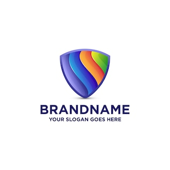 Logo de bouclier coloré