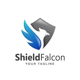 Logo de bouclier eagle simple propre moderne