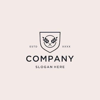Logo de bouclier de ferme