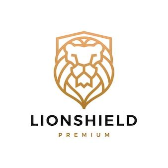 Logo de bouclier de lion