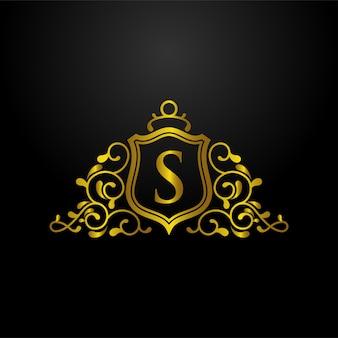 Logo de bouclier de luxe