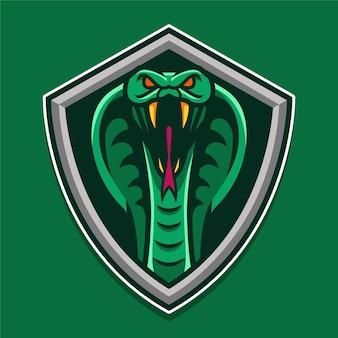Logo de bouclier de serpent