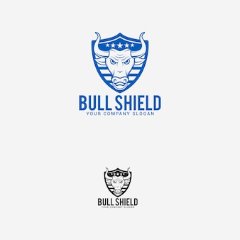 Logo de bouclier de taureau