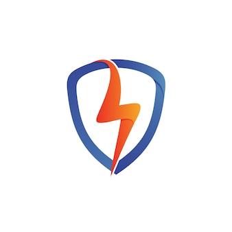 Logo de bouclier de tonnerre