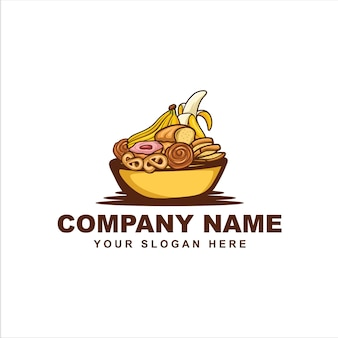 Logo de boulangerie banane