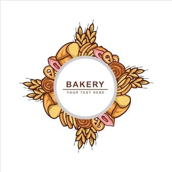 Logo de boulangerie cercle