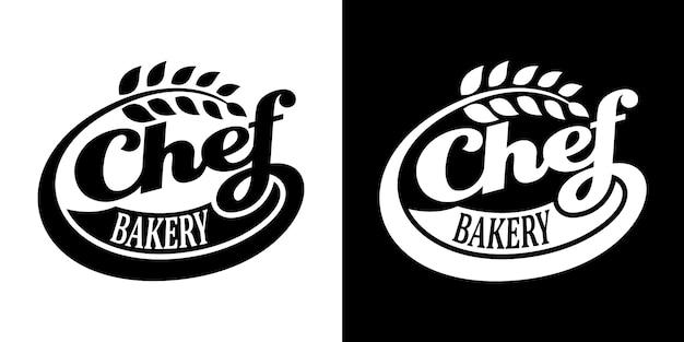 Logo de boulangerie chef, modèle