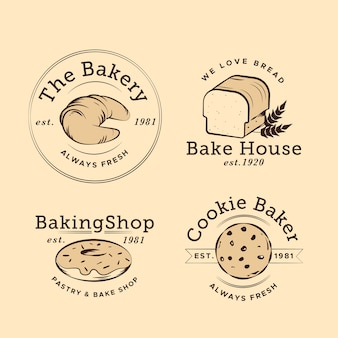 Logo de boulangerie design rétro