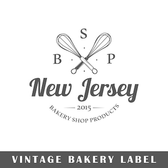 Logo de boulangerie isolé sur fond blanc