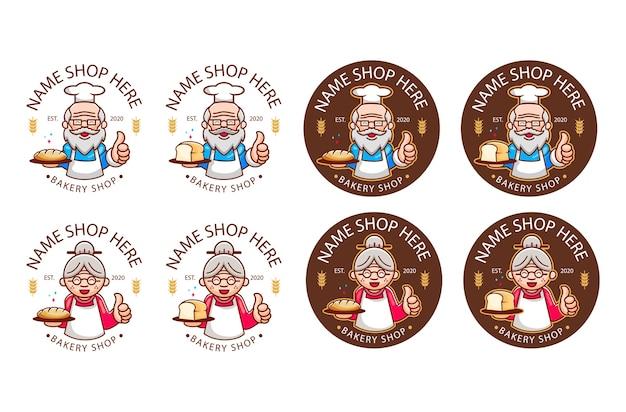 Logo de boulangerie légendaire